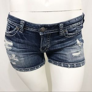 Silver Jeans Aiko Distressed Shorts